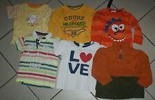 6 Kinder Jungen Fleece / T-Shirt / Sweat Shirt Gr 86/92 Posten Paket Konvolut