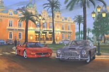 Ferrari 355 Aston Martin DB5 Car Auto Motoring Painting Picture Art Print