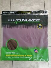 "Ultimate Acoustics Professional Studio Foam | 2-Pack Wedge Style 24"" X 24"" X 2"""