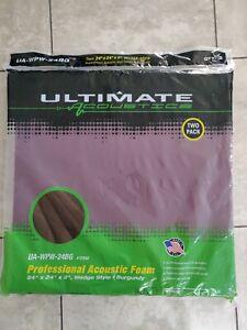 "Ultimate Acoustics Professional Studio Foam | 2-Pack Wedge Style 24"" X 24"" X 2"""