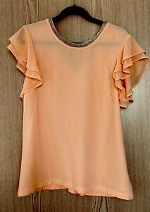 NEXT Gorgeous Spring Summer Ladies Blouse Top Size 14 Orange