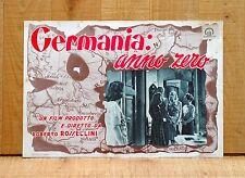 GERMANIA ANNO ZERO fotobusta poster Rossellini Franz Kruger Berlin 1946 A17