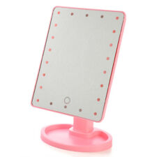 1x22 LED Touch Screen Makeup Mirror Tabletop Lighted Cosmetic Vanity 360 Rotate