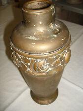 alt antik Urne Vase Messing floralem Muster Rosen Jugenstil