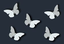 Coat Rack BUTTERFLY wall hangers Hanging steel white hook