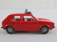 """Wiking 606/2B VW Golf I (1974-1978) """"FEUERWEHR / ELW"""" 1:87/H0 guter Zustand"""