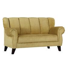 Speisesofa Dinner 2-Sitzer Sofa Polstermöbel Bezug beige gelb Füße antik 170 cm