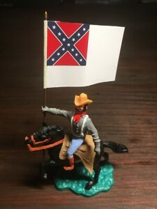 """1 x Timpo Mounted Confederate - """" 33rd Texas Cavalry"""" - ACW - Toy Soldier"""
