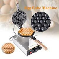 US Stainless Electric Bubble Egg Cake Maker Oven Non Stick Waffle Baker Machine