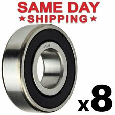 608-2Rs Ball Bearing 8x22x7 Two Rubber Sealed Chrome Skateboard 608Rs (8 Qty)