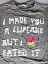 CUPCAKE tee shirt grey vintage anatomy frosting junk food baking cook johnny