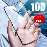 New 10D Full Cover Tempered Glass Screen Protector For IPhone X XS MAX XR 8 7 6