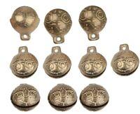 New TIBETAN Brass BELLS LOT of 15 Bead 14mm Craft Temple Herding Small Metal
