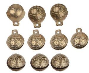 New TIBETAN Brass BELLS LOT of 10 16mm Bead Craft Temple Herding Small Metal