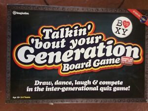 TALKIN' 'BOUT YOUR GENERATION BOARD GAME 15+ 2-6 PLAYERS IMAGINATION 2009