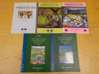 Wimbledon Lawn Tennis Championships 5 Programmes 1994 to 1998 ID6541