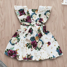 Casual Floral Baby Dresses