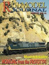 Railmodel Journal Aug 1999 Intermodel Maersk Stewart Alco C628 EMD GP40 HO Scale