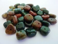 40 pce Natural Indian Agate Gemstone Bead Nuggets Jewellery Making Craft