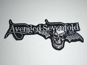 AVENGED SEVENFOLD IRON ON EMBROIDERED PATCH