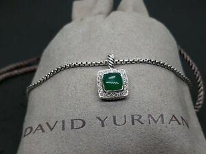 David yurman Pettie Albion Pendant Necklace 7mm Green Onyx with Diamonds