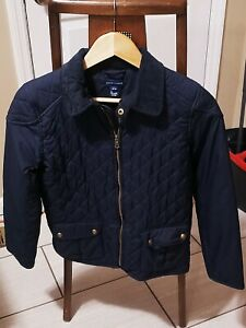 RALPH LAUREN POLO Girls Jacket Quilted Barn Coat Size Large 12-14 Navy