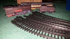 Toy Train Plastic M11630 Engine passenger & coal car WORKS! with 12pc track