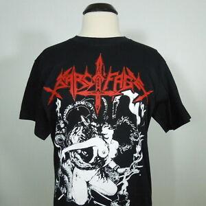 - SARCOFAGO Insulters Of Jesus Christ T-Shirt Black Men's size 2XL (NEW) NWOT