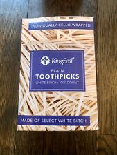 Toothpicks Wooden 1000 Mint Cello Wrapped Toothpicks