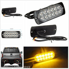 Ultra Slim Vehicles Truck Off-Road Amber 12LED Flashing Strobe Light Signal Lamp