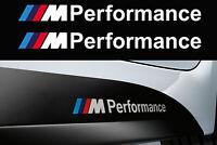 M Performance BMW vinyl decal sticker Side Skirt Bumper Window 200mm White x 2