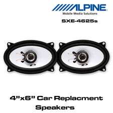 "Alpine SXE-4625s - 4""x6"" 4x6 2-Way Car Coaxial Speakers 300W Total Power"