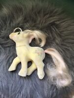 My Little Pony G1 Posey & Brush Vintage MLP Hasbro 1985 Flocked Fuzzy AS IS