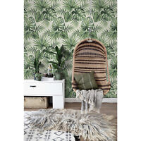 Tropical big palm Non-Woven wallpaper pattern exotic Traditional home  Mural