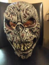 Night Fiend Ani-Motion Halloween Mask with Movable Jaw Scary Zombie