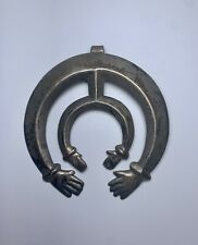 Old Pawn Native Navajo Sterling Silver Naja Hands Pendant