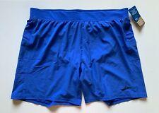 "NWT Brooks Men Running Shorts Sherpa 7"" 2 in 1 Shorts Amparo Blue Size XL"