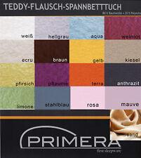 Primera warme Teddy Flausch Spannbettlaken 100x200 150x200 200x200 cm in 15 Farb