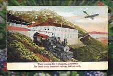 Postcard vintage Train Mt Tamaipais California most scenic rwy ride on earth RR
