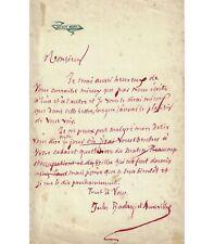 BARBEY D'AUREVILLY. Ecrivain. Lettre autographe (Réf. G 5947)