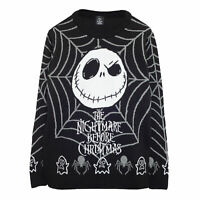 Disney The Nightmare Before Christmas Jack Spider Web Men's Knitted Jumper |