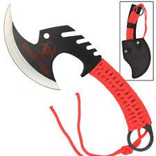 Apocalypse Zombie Killer Skullsplitter Steel Throwing Axe Hatchet Blood Red
