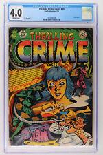 Thrilling Crime Cases #49 - Star Publications 1952 CGC 4.0 Classic cover.