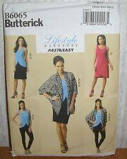 Womens/Misses Top Dress Skirt Pants + Sewing Pattern/Butterick B6065/SZ XS-M/UCN