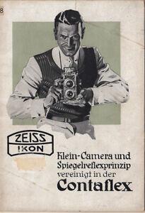 Zeiss Ikon Prospekt, Kleinkamera und Spiegelreflexprinzip