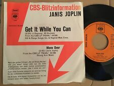 7' Janis Joplin > get it while you can/Move Over < PROMO GERMANY