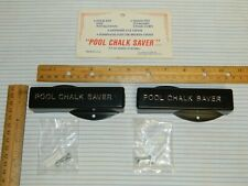2 Billiards Pool Table Pool Chalk Savers New Unused Out of Package 1989 USA