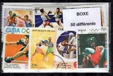 Boxeo - Boxing 50 sellos diferentes matasellados