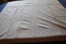 """Nappe N°76 ancienne en coton """"damassé"""" 126 x 116 cm  jours"""