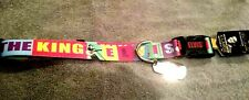 """Elvis Presley Dog Collar XL The King Pet Collection Adjustable 21-34"""" ID Tag"""